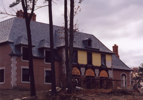 New Tudor, 141 Squares, Random Slates, All Lead Coated Copper Valleys And Flashings Slingerlands, NY